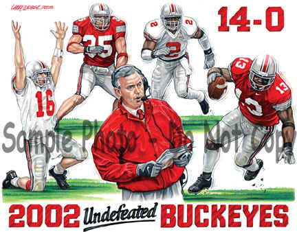 Ohio State University Undefeated Buckeyes Jim Tressel Art Photo.