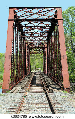 Stock Image of Old train trestle k3624785.