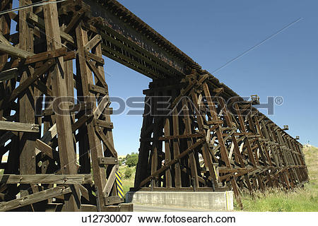 Picture of Cottonwood, ID, Idaho, Camas Prairie, Railroad on.