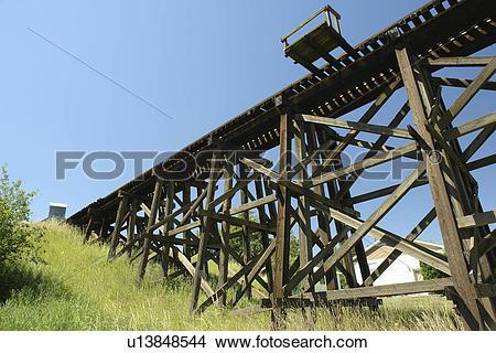 Stock Photo of Cottonwood, ID, Idaho, Camas Prairie, Railroad on.