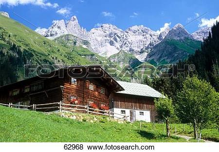 Pictures of Cottage near mountain range, Trettachspitze , Allgau.