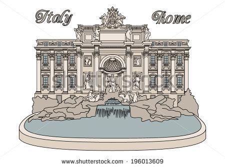 Trevi Fountain Rome Stock Vectors, Images & Vector Art.