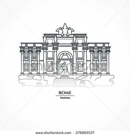 Trevi Fountain Stock Vectors, Images & Vector Art.