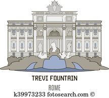 Trevi fountain Clipart and Illustration. 13 trevi fountain clip.