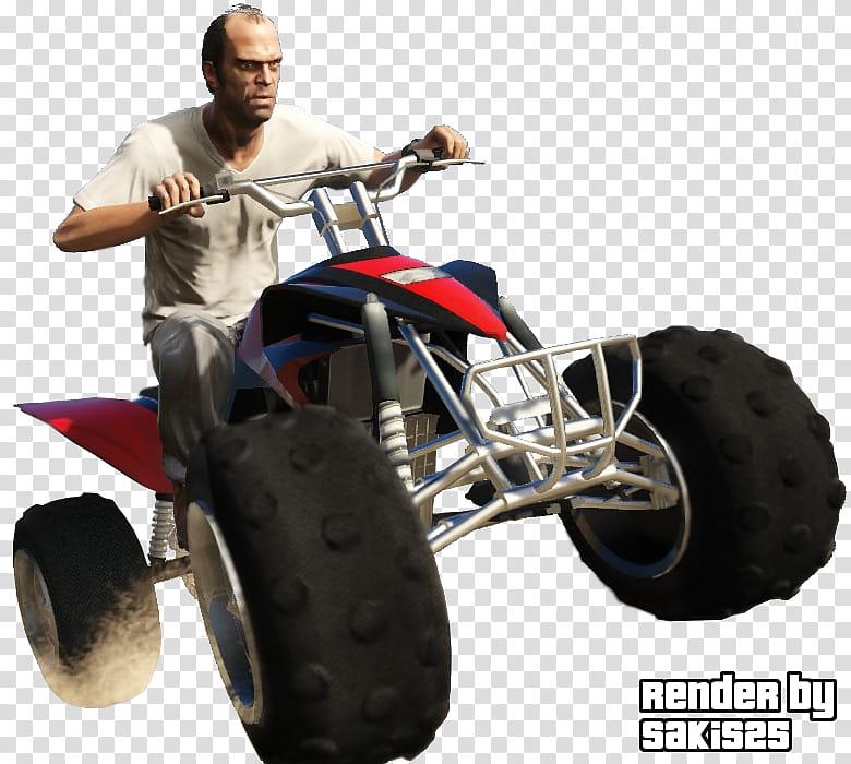 Grand Theft Auto V Trevor Render, man riding ATV.