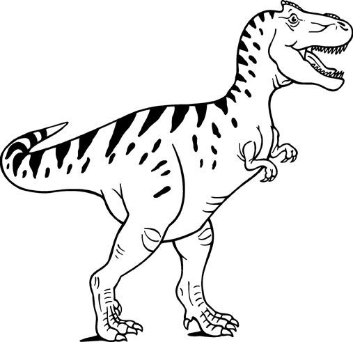 Trex clipart black and white 2 » Clipart Station.