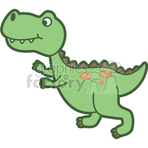 trex dinosaur cartoon clipart. Royalty.