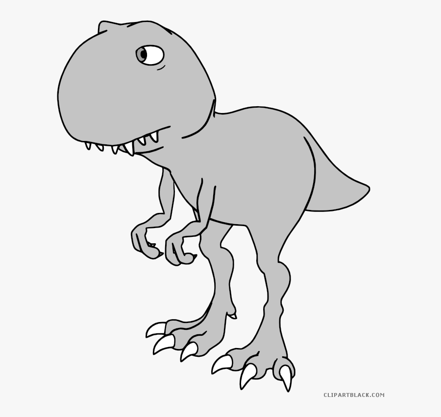 Trex Clipart Black And White.