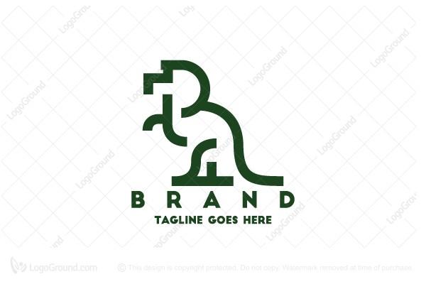 Exclusive Logo 146897, Trex Dinosaur Logo.