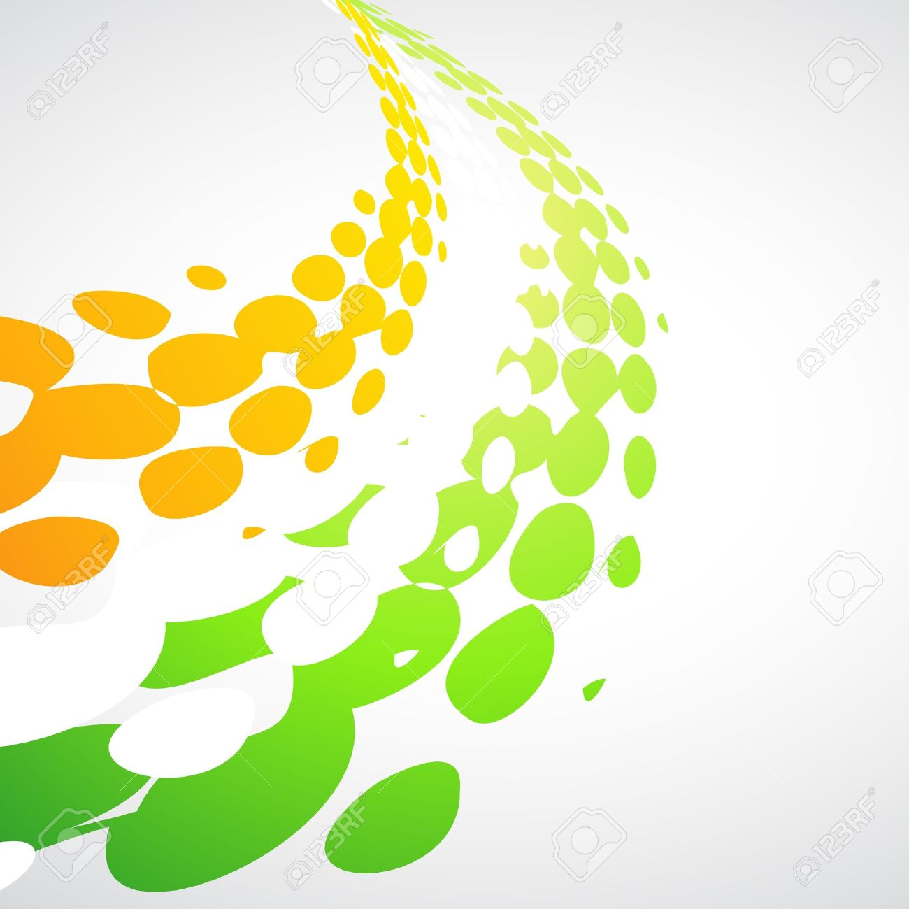 Tricolor Wave Design Illustration Royalty Free Cliparts, Vectors.