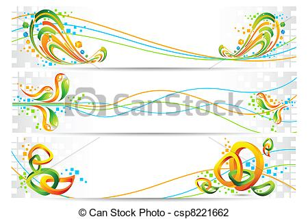 Vector Illustration of Colorful Tricolor Banner.