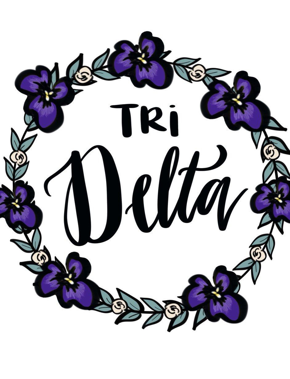 Tri delta floral print by ShenaniDesigns on Etsy.