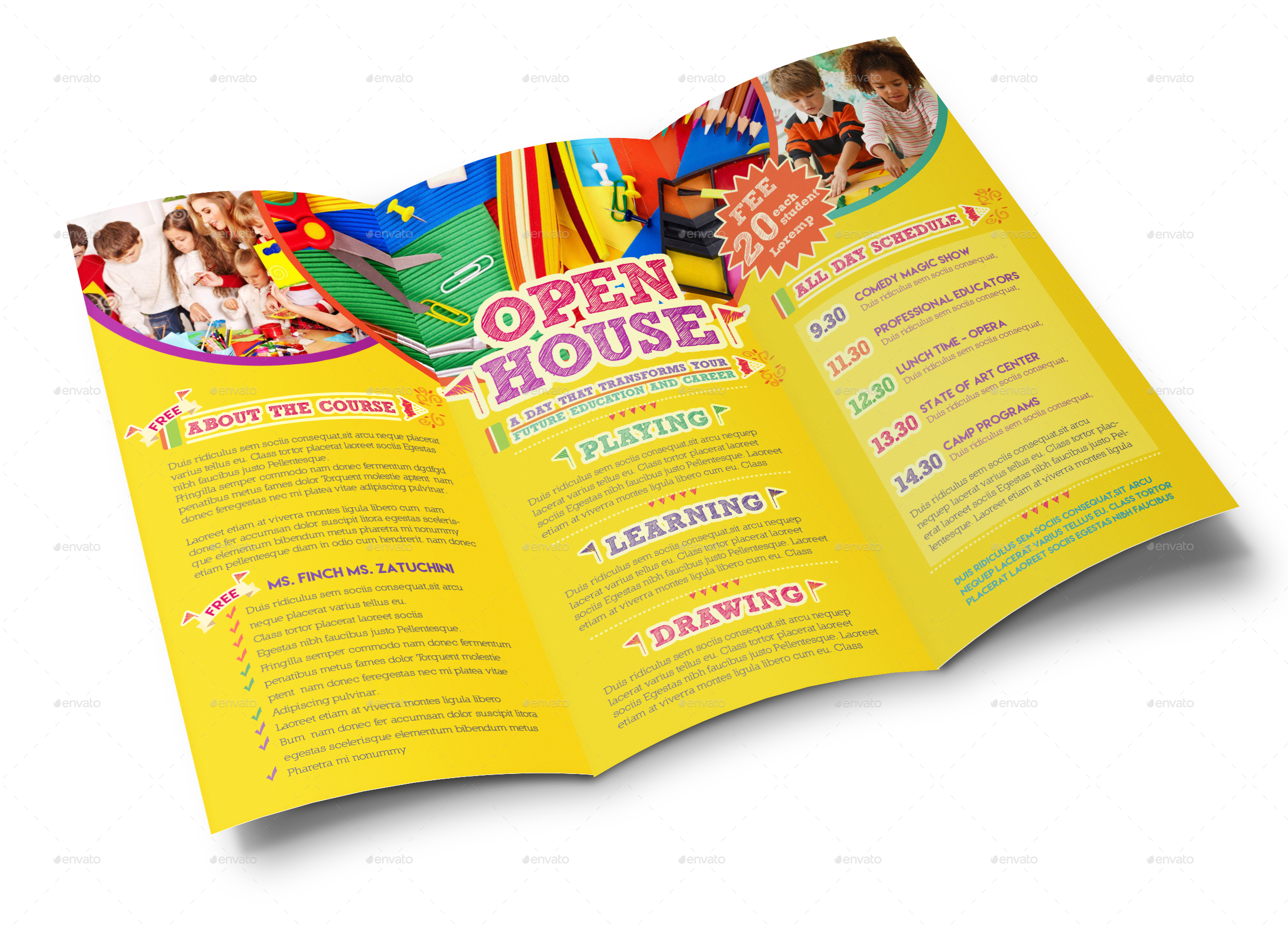 Open House Trifold Brochure Template by EMTY.
