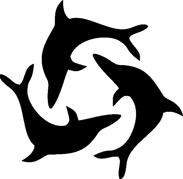 Black Dolphin Triad Clip Art at Clker.com.