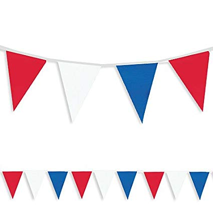 Amscan 22010.60 Fourth of July Large Pennant Banner, 25\' x 18\