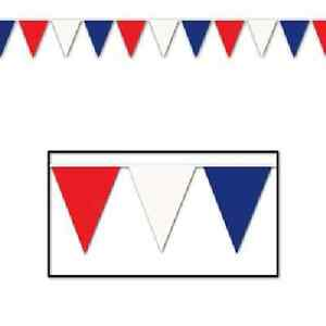 Details about Patriotic Red White Blue Outdoor Pennant Banner 4th of July  Decoration.