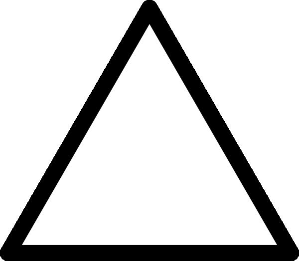 Triangle Clip Art Black And White.