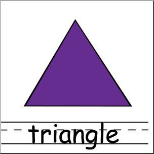 Clip Art: Shapes: Triangle Color Labeled I abcteach.com.