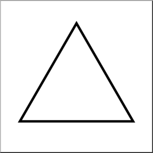 Clip Art: Shapes: Triangle: Equilateral B&W Unlabeled I.