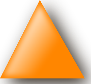 Orange Triangle clip art Free Vector / 4Vector.