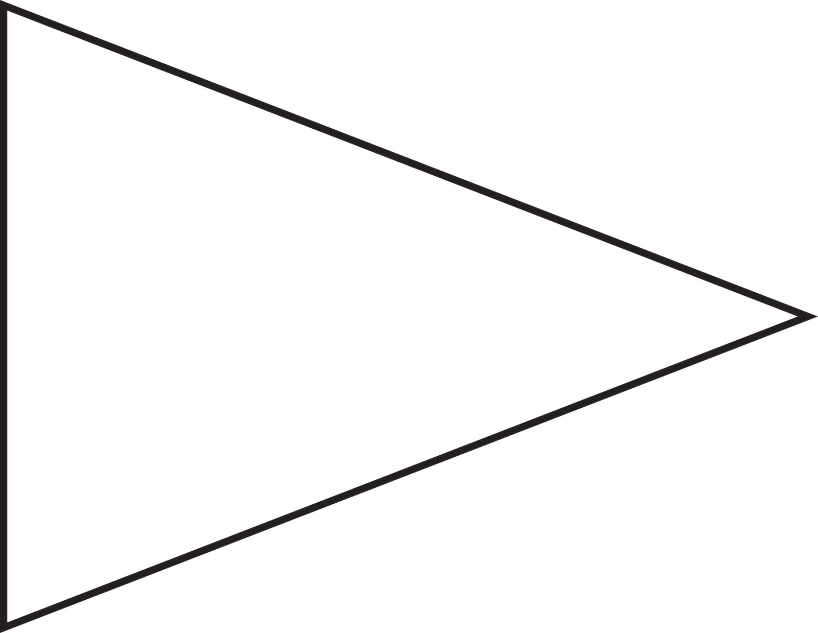 Flag Triangle Clipart Black And White.