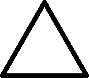 Triangle Clipart Black And White.