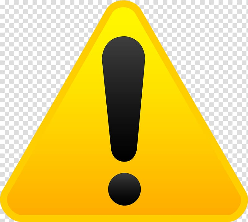 Caution logo, Triangle Yellow, Exclamation mark transparent.