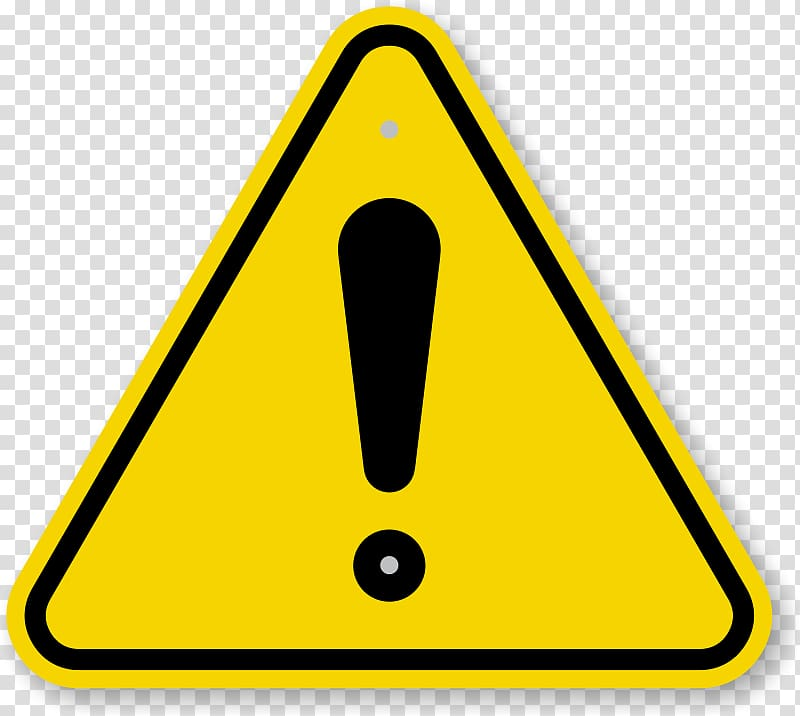 Warning sign Safety Hazard Symbol, Exclamation mark.