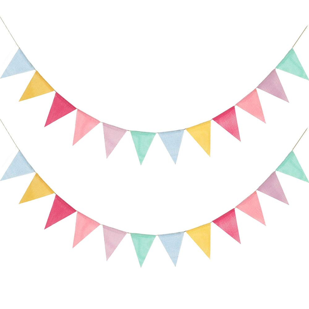 Juland 24 Flags Multicolor Pennant Banner Triangle Flag Bunting for Party  Hanging Festivals Decoration.