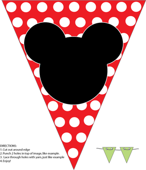 free printable banner minnie and mickey.