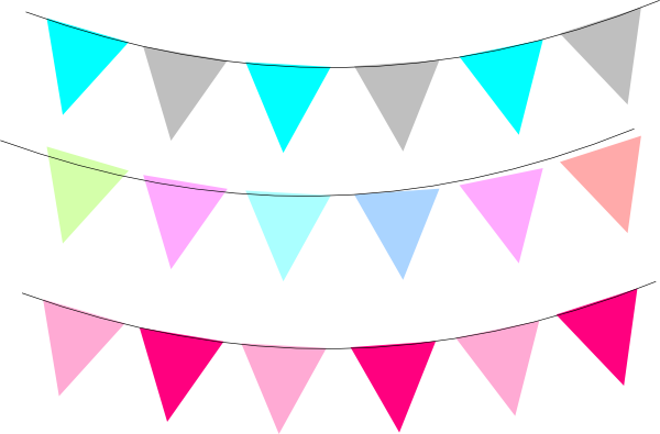 Free straight banner flag clipart.