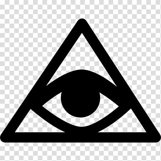 Triangle Symbol Eye of Providence , triangulo transparent.