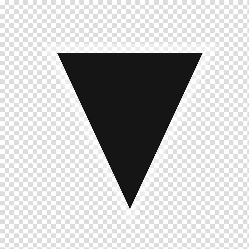 Black triangle Icon, black triangle transparent background.