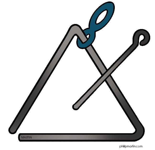 Triangle Instrument Clipart.