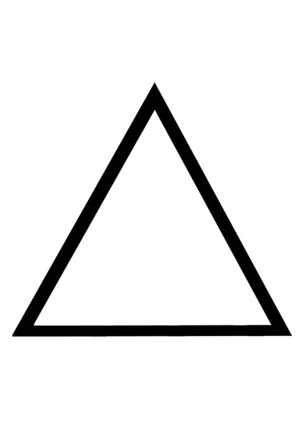 Triangle Outline Clipart.
