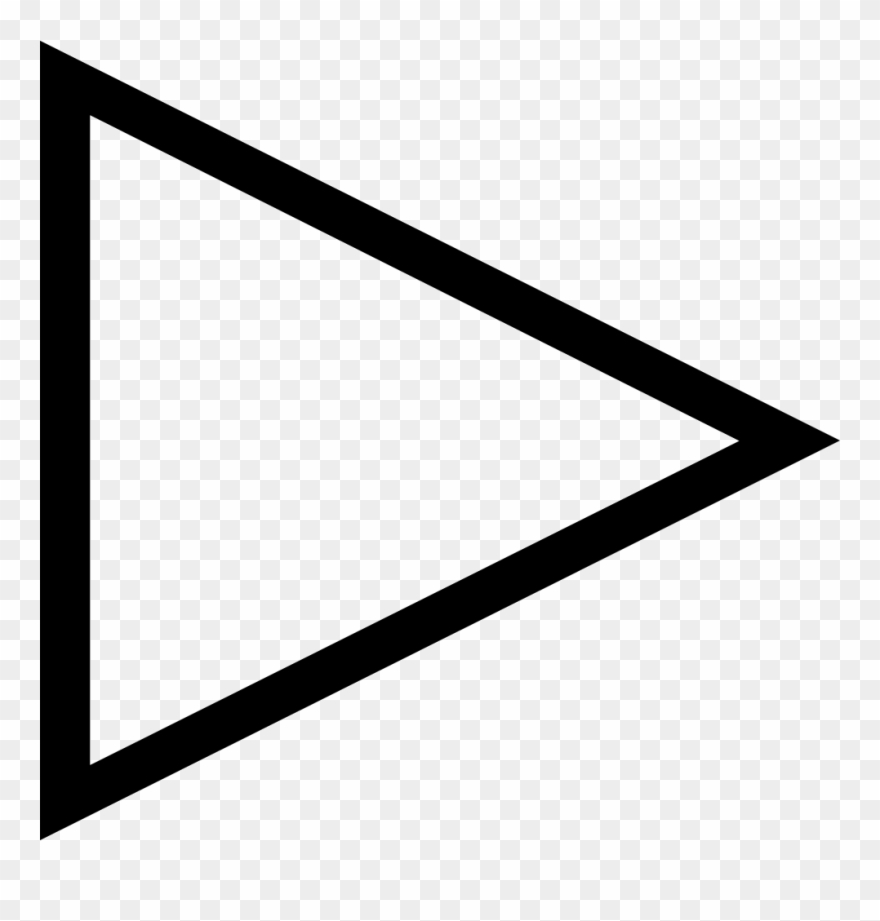 Play Right Arrow Triangle Outline Comments Clipart (#3099144.