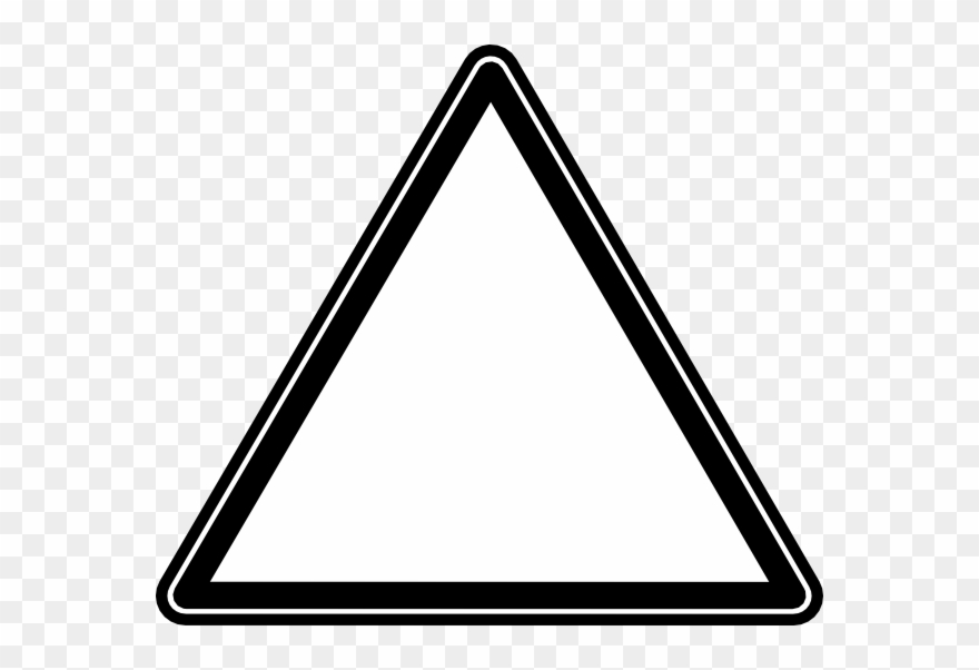 Clip Art Black And White Triangle.