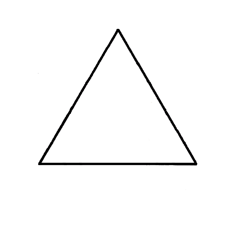 Black and white Triangle png #42409.