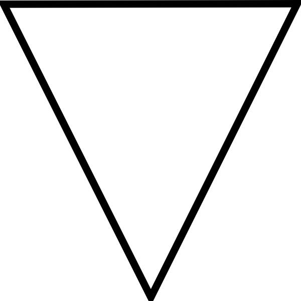 Triangular clipart flipped, Triangular flipped Transparent.