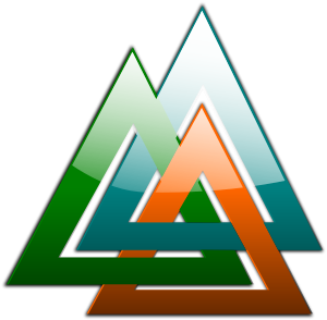 3 Triangles Linked SVG Vector file, vector clip art svg file.