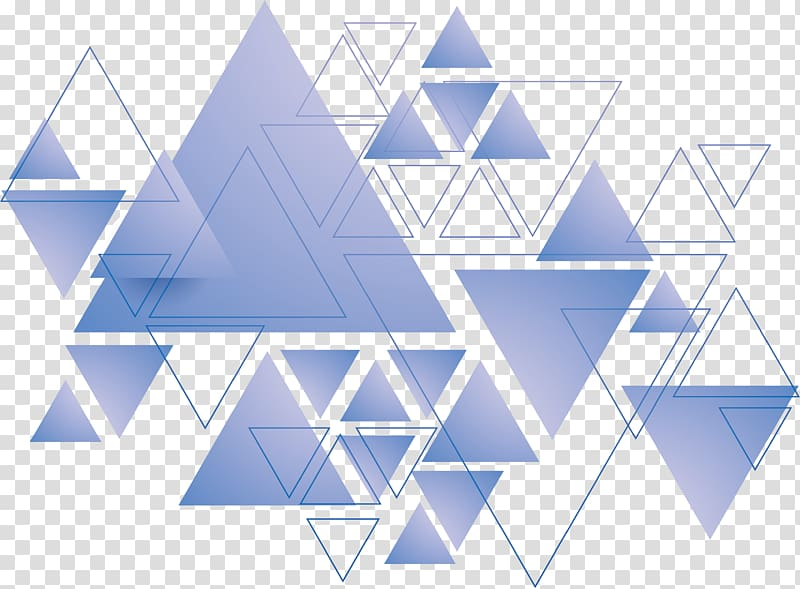 Triangle Geometry, Blue triangle, triangles artwork.