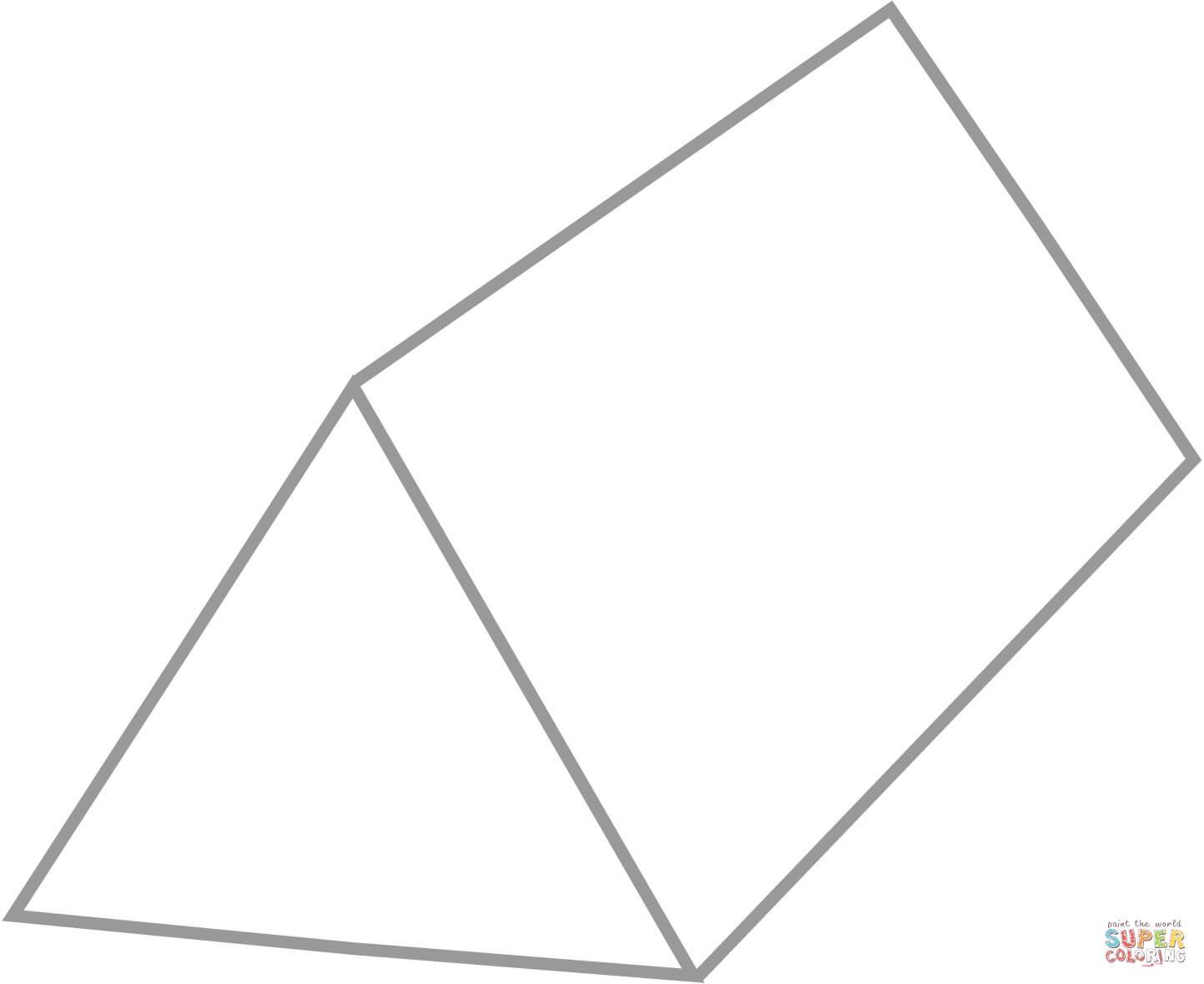 Triangular Prism coloring page.
