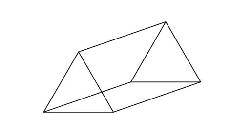 Similiar Triangular Prism Shape Outline Keywords.