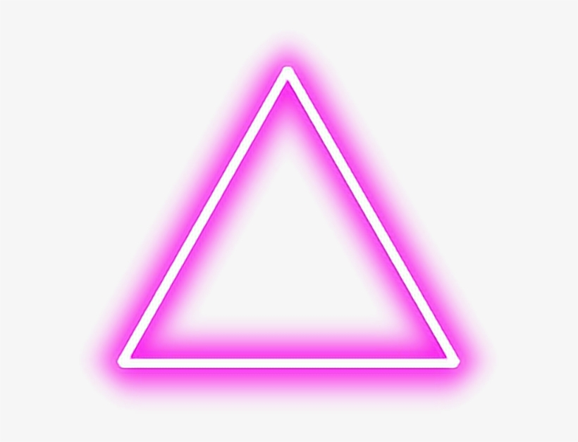 Triangle Pink Red Tumblr Shapes Glow Neon Pinktriangle.