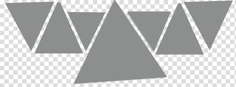 Triangulos, gray triangles art transparent background PNG.