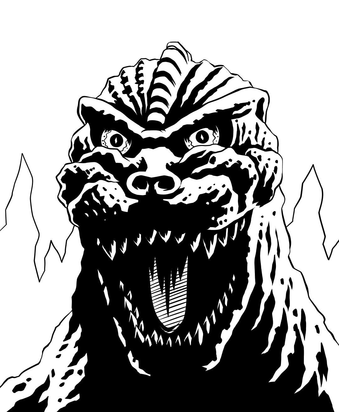 CityStompers — ianjepson: Inktober day 3: Godzilla, King of.