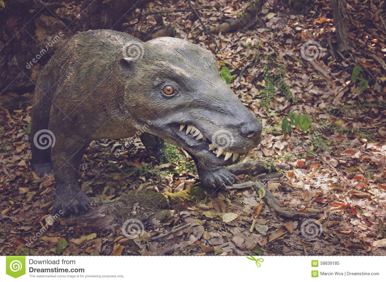 Realistic Model Of Dinosaur From Trias,predator From Triassic.