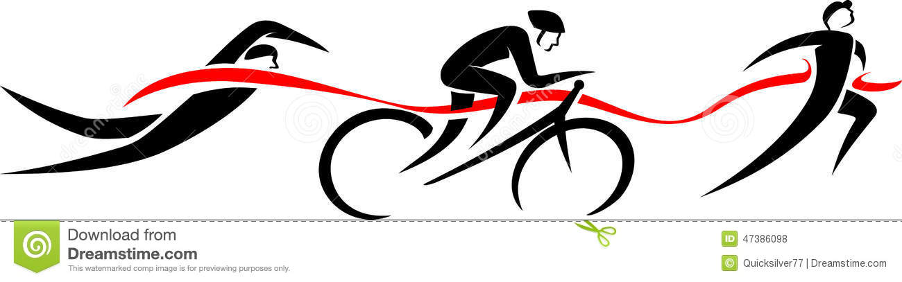 6+ Triathlon Clip Art.