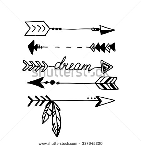 Tribal arrow clipart black and white 5 » Clipart Station.
