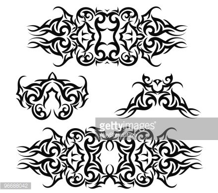 Tribal Tattoo Arm Band Clipart Image.